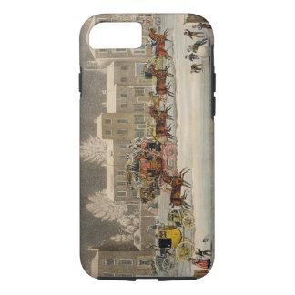 Coque iPhone 7 L'approche à Noël, gravé par chasse à George