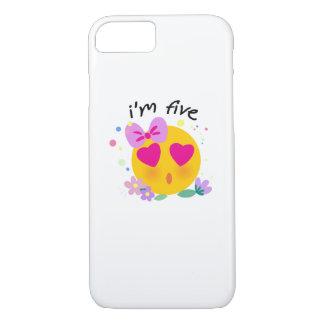 Coque iPhone 7 Le 5ème anniversaire d'Emoji badine pour la partie