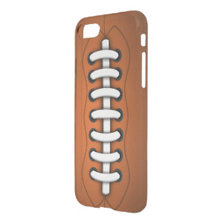 Coque iPhone 7 Le blanc lace le football américain orange de