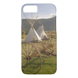 Coque iPhone 7 Le CANADA, Colombie-Britannique, Enderby. Tepees