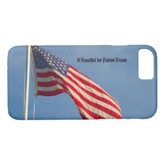 Coque iPhone 7 Le drapeau américain patriotique personnalisent