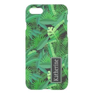 Coque iPhone 7 Le feuille de palmiers tropicaux   ajoute votre