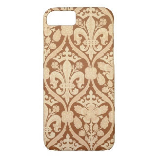 "Coque iPhone 7 Le ""Fleur-De-Lis"", papier peint de reproduction a"