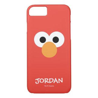 Coque iPhone 7 Le grand visage | d'Elmo ajoutent votre nom