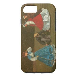Coque iPhone 7 Le jeu de croquet, 1866 (huile sur la toile)