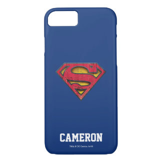 Coque iPhone 7 Le logo affligé par | | de S-Bouclier de Superman