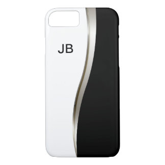 Coque iPhone 7 Le monogramme moderne des hommes