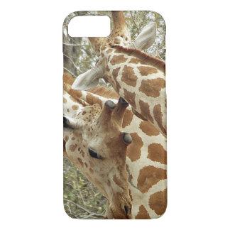 Coque iPhone 7 Le Niger, Koure, deux girafes dans les buissons