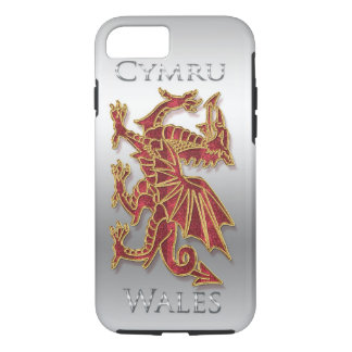Coque iPhone 7 Le Pays de Galles Cymru, dragon, iPhone argenté 7