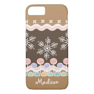 Coque iPhone 7 Le pays des merveilles d'hiver de Candyland de