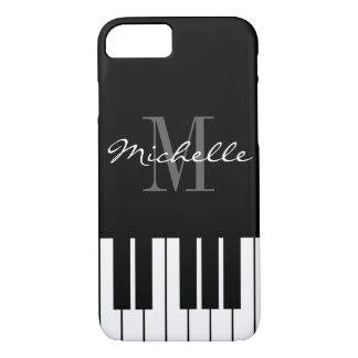 Coque iPhone 7 Le piano noir et blanc verrouille le cas de