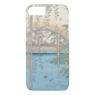Coque iPhone 7 Le pont avec des glycines ou Kameido Tenjin