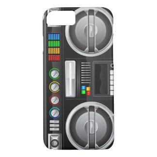 Coque iPhone 7 le rétro arc-en-ciel boutonne le maître de ghetto