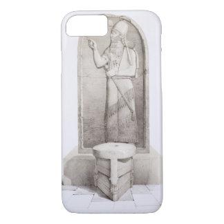 Coque iPhone 7 Le roi et l'autel sacrificatoire, Nimrud, plaquent