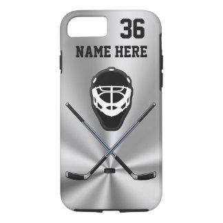 Coque iPhone 7 Le téléphone personnalisé d'hockey enferme votre