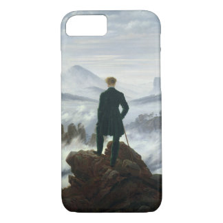 Coque iPhone 7 Le vagabond au-dessus de la mer du cas de l'iPhone
