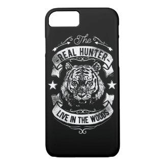 Coque iPhone 7 Le vrai chasseur vivent dans le téléphone brillant