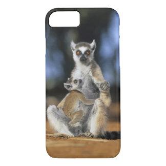 Coque iPhone 7 lémur Anneau-coupé la queue, (catta de lémur),