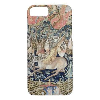 Coque iPhone 7 Les cerfs communs à ailes (tapisserie)