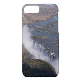 Coque iPhone 7 Les chutes Victoria, rivière de Zambesi, Zambie -