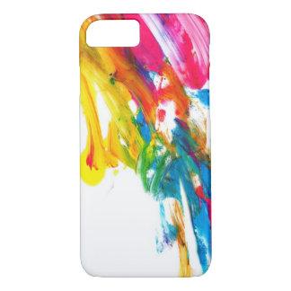 Coque iPhone 7 les couleurs de couleur d'éclaboussure de peinture