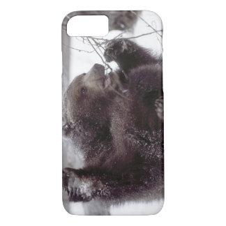 Coque iPhone 7 Les Etats-Unis, Alaska. Jeux grisâtres juvéniles