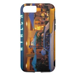 Coque iPhone 7 Les Etats-Unis, FL, Miami, plage du sud la nuit