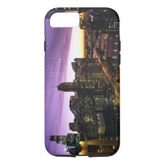 Coque iPhone 7 Les Etats-Unis, IL, Chicago. Horizon et rivière de