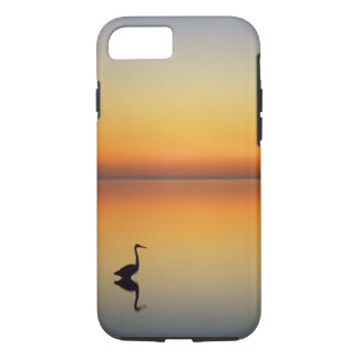 Coque iPhone 7 Les Etats-Unis, le Texas, port Aransas, héron de