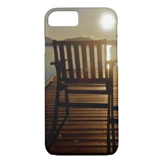 Coque iPhone 7 Les Etats-Unis, Maine, Rockwood. Une chaise avec