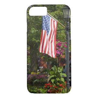 Coque iPhone 7 Les Etats-Unis, New York, Lewiston. Drapeau