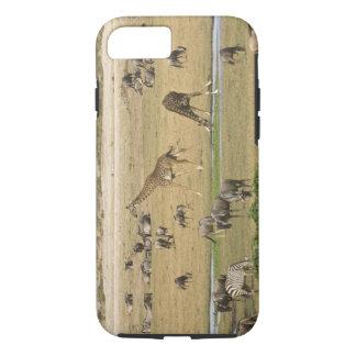 Coque iPhone 7 Les gnous, les zèbres et les girafes recueillent à