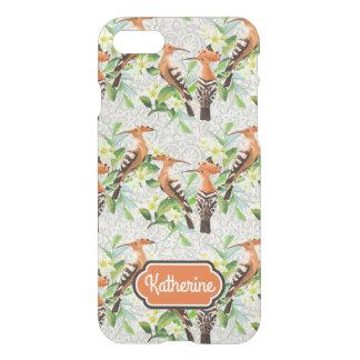 Coque iPhone 7 Les oiseaux exotiques sur la dentelle   ajoutent