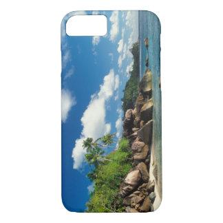 Coque iPhone 7 Les Seychelles, île de Mahe, baie de Lazare