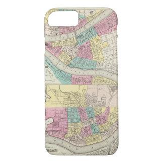 Coque iPhone 7 Les villes de Pittsburgh Allegheny Cincinnati