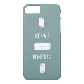 Coque iPhone 7 L'espace entre nous citation drôle de griffonnage