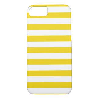Coque iPhone 7 L'été barre la caisse jaune citron superbe de