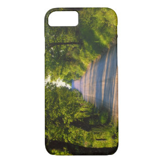 Coque iPhone 7 L'Europe, Italie, Toscane, arbre a rayé la route