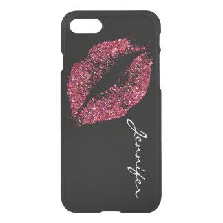 Coque iPhone 7 Lèvres rouges #2 de scintillement