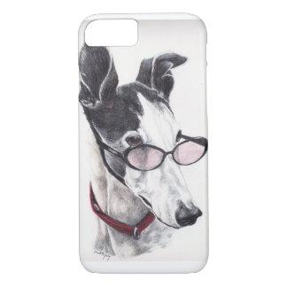Coque iPhone 7 Lévrier dans le cas de l'iphone 6 d'art de chien