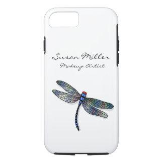 Coque iPhone 7 Libellule bleue minimaliste