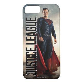 Coque iPhone 7 Ligue de justice | Superman sur le champ de