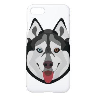 Coque iPhone 7 L'illustration poursuit le chien de traîneau