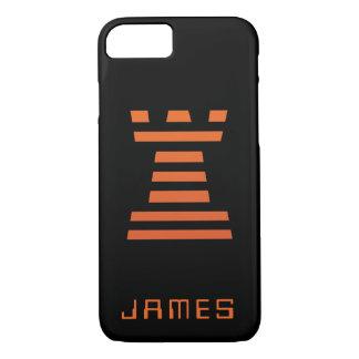 Coque iPhone 7 L'iPhone de ChessME ajoutent l'orange noire nommée