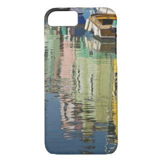 Coque iPhone 7 L'Italie, Venise, Burano. Maisons multicolores le