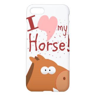 Coque iPhone 7 llove i mon cheval