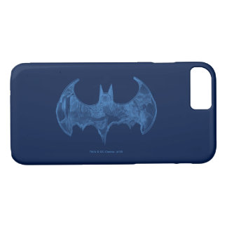 Coque iPhone 7 Logo bleu-clair de carnet à dessins du symbole |
