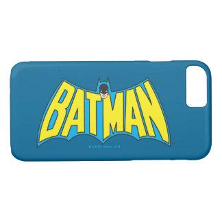 Coque iPhone 7 Logo bleu jaune vintage 2 de Batman |