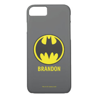 Coque iPhone 7 Logo de cercle de batte du symbole | de Batman