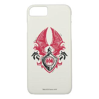 Coque iPhone 7 Logo noir rouge de crête de timbre de batte du